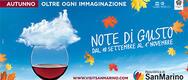 Note di Gusto 2016 a San Marino - DAL 10/09 AL 01/11/2016